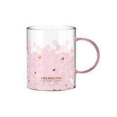 樱花玻璃马克杯 便携少女心可爱ins风高颜值网红杯 好东西创意