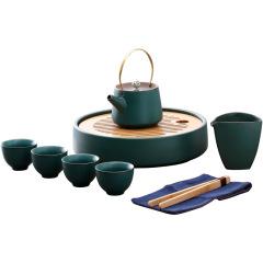 陶瓷功夫茶具套装 一壶四杯 礼盒 房地产送给客户礼品