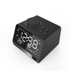 X11  无线蓝牙镜面闹钟音箱多功能插卡桌面电脑音响收音机