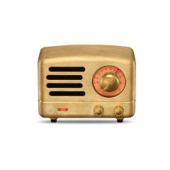 猫王收音机 黄铜·时光珍藏版复古蓝牙音箱 小巧便携调频收音机小音响 高端定制礼品