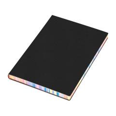 A5软面彩虹边笔记本 简约皮面加厚记事本 定制logo礼品