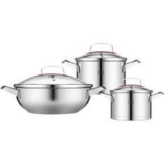德国NOLTE 欧式不锈钢炒锅汤锅奶锅锅具六件套 商务礼品