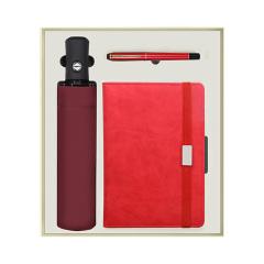 纯色商务雨伞+笔记本+签字笔礼盒 适合年会发的礼品