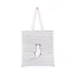 猫咪条纹文艺ins帆布袋 环保实用 奖励小礼品