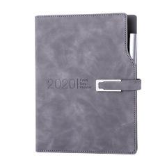 【2020】年历本日程本带笔记事本 皮扣设计带笔效率手册手账月计划本 企业定制LOGO