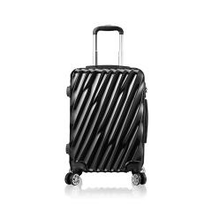 维仕蓝(wissBlue)20寸皓月时尚拉杆箱黑色银色  过年送礼佳品