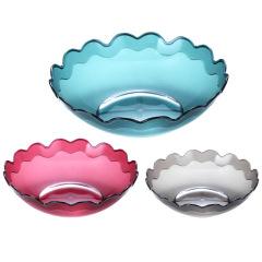 家居塑料果盘三件套 简约实用 促销小礼品