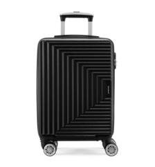 瑞动(SWISSMOBILITY)时尚拉链登机箱MT-5251 黑色20寸 商务出差旅行箱