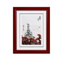 【广绣越秀五羊】手工刺绣 特色高档挂画 答谢礼品