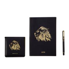 【狮王】笔记本+笔+便签本 礼盒装 A5加厚记事本礼品定制 圣诞节送什么好