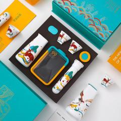 【鹤鹿同春】国潮风创意酒具礼盒套装 一壶二杯+分酒器 公司纪念品