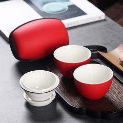 小雞蛋快客杯 一壺兩杯便攜旅行茶具 企業開會送什么禮品好