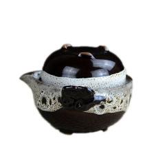 旅行茶具一壶一杯盖碗陶瓷办公个人杯 窑变汝窑 创意商务礼品