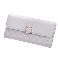 女士钱包长款手拿包大容量两折钱夹皮夹   生活实用小奖品