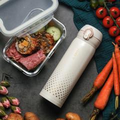 菲驰(VENES)爱尔兰悦动出行套装保温杯+耐热玻璃饭盒两件套  公司年终福利礼品