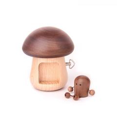 MUSOR 蘑菇小人木质音乐盒 八音盒创意摆件 教育行业小礼品