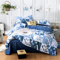 迪士尼(Disney)奇幻米奇床上四件套 卡通床上套件 水洗棉床单套装 新屋入伙礼品