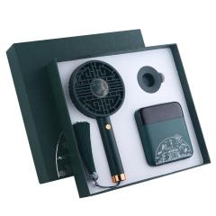 国潮风夏季手持小风扇+10000毫安移动电源礼盒 夏季送什么礼品