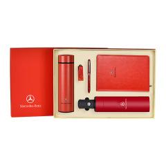 商务经典礼盒套装 保温杯+笔记本+签字笔+自动雨伞+U盘8G 送什么给客户好