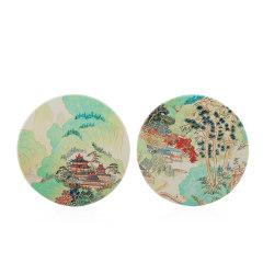 【苏州博物馆】仙山楼阁图杯垫2个装  小巧实用 公司举办活动奖品