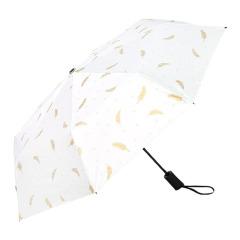 個性創意折疊羽毛傘 全自動黑膠防曬傘 防紫外線太陽傘 問題比賽 獎品