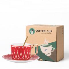 创意欧式宫殿咖啡杯套装 一杯一碟一勺 夏天什么礼品是爆品