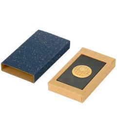 紫光檀嵌荷花名片夹 中国风木制工艺品红木名片盒 创意礼品刻字定制名片夹
