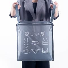 日系新款网布透气脏衣篓 简约可折叠脏衣篮 创意家居礼品