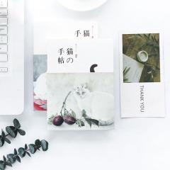 和风日式猫咪空白纸笔记本 猫的手帖裸装本 创意文化礼品
