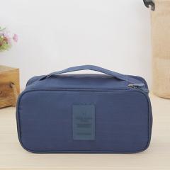 韩版旅行多功能衣物收纳包 旅行包 便携洗漱包--深蓝色