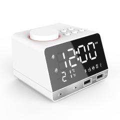 多功能可充電有氣溫藍牙音箱  安心睡眠創意音樂時鐘收音機 數碼禮品定制