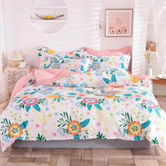 【初恋】全棉印花床上四件套 高支高密纯棉床上套件 1.5米/1.8米/2米