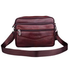 复古风范单肩包包包休闲竖款牛皮包   办公礼品推荐