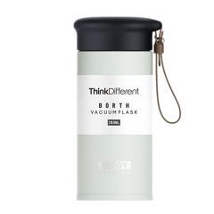 皮质提手便携提手车载保温杯304不锈钢水杯280ML  有什么实用的小礼品