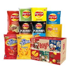 【京东伙伴计划—仅限积分兑换】乐事(Lay's)薯片 福禄寿喜财年货大礼盒600g