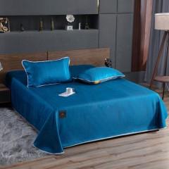 竹印象 素色冰丝席三件套 凉感纤维枕被套装 家居礼品