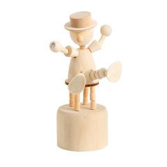 会跳舞的木头人桌面摆件 创意可爱北欧风木质小动物摆件 展会小礼品