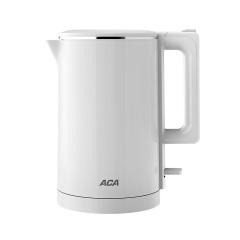 ACA 简约双层防烫电热水壶 1.7L大容量家用烧水壶 社区运动会奖品