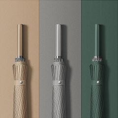 创意配色24骨直杆伞 手开高尔夫简约长柄伞 送员工的实用礼品