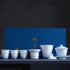 【映月】商务手工盖碗功夫茶具套装 精美礼品 送客户什么礼品实用