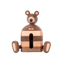 MUSOR 老鼠先生桃木榉木拼色纸巾盒 客厅创意小老鼠摆件  200-300礼品