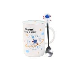 宇航员星球马克杯 礼品牛奶咖啡陶瓷杯 公司活动奖品
