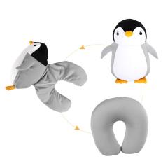 企鹅泡沫粒子u型枕 卡通造型变形枕 聚会小礼品