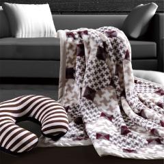 华纳斯(WALOS)商务休闲套装毛毯 商务出行送什么礼物
