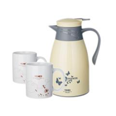 菲馳(VENES)寶麗來時尚家用陶瓷杯保溫壺套裝 活動贈品送什么