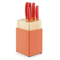 德国NOLTE 双拼色不锈钢刀具六件套 实用年会礼品