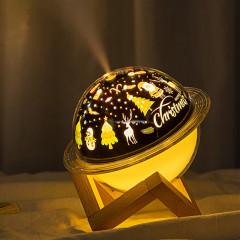 星球投影灯加湿器 迷你七彩桌面加湿器 活动小礼品