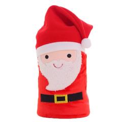 【圣诞老人】圣诞保暖小毛毯 法兰绒创意圣诞节造型 圣诞节促销礼品