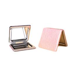 方形珠光渐变色双面折叠镜 便携美观 活动伴手礼