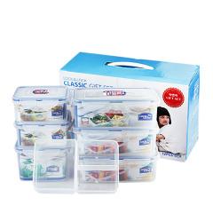 乐扣乐扣(Lock&Lock)塑料保鲜盒6件礼盒套装   密封饭盒冰箱收纳盒 HPL855S002